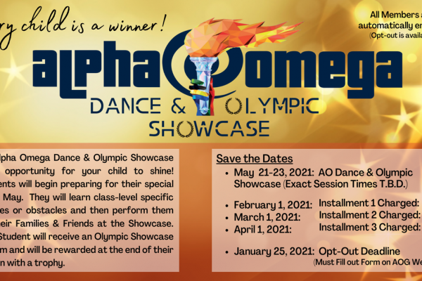 Olympic Showcase Flyer