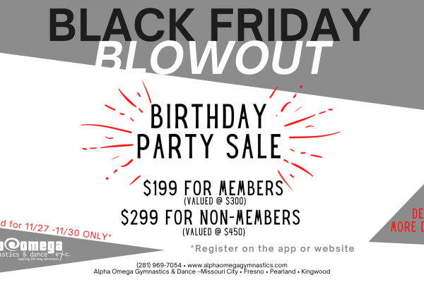 Black Friday Blowout Sale 2021